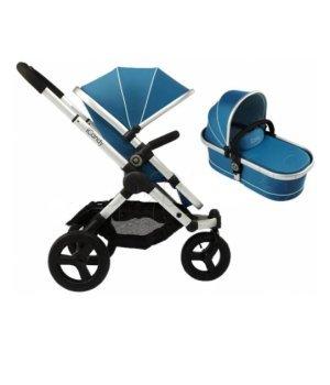 Универсальная коляска 2 в 1 iCandy Peach Jogger с сумкой Gumdrop (Голубая)