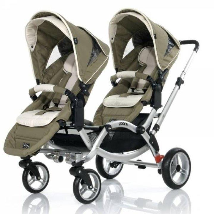 Прогулочная коляска для двойни ABC design Zoom Cream-Olive