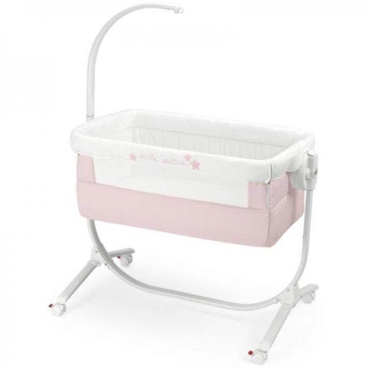 Приставная колыбель-кроватка CAM Cullami с постелью Stella Stellina (141 розовая)