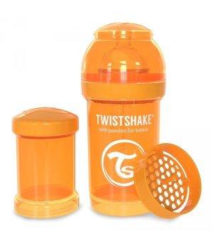 Twistshake антиколиковая бутылочка 180мл Оранжевая (78003)