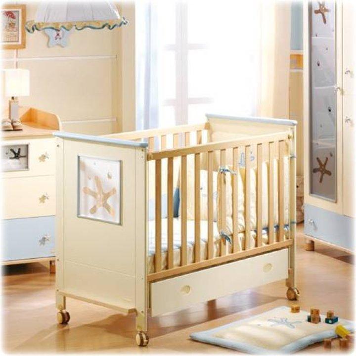 Детская кроватка Micuna Nemo Слоновая кость/голубой