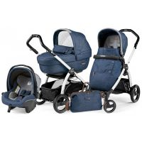 Универсальная коляска 3 в 1 Peg Perego Book S Elite Modular 2018 (шасси S Black/White) Urban Denim