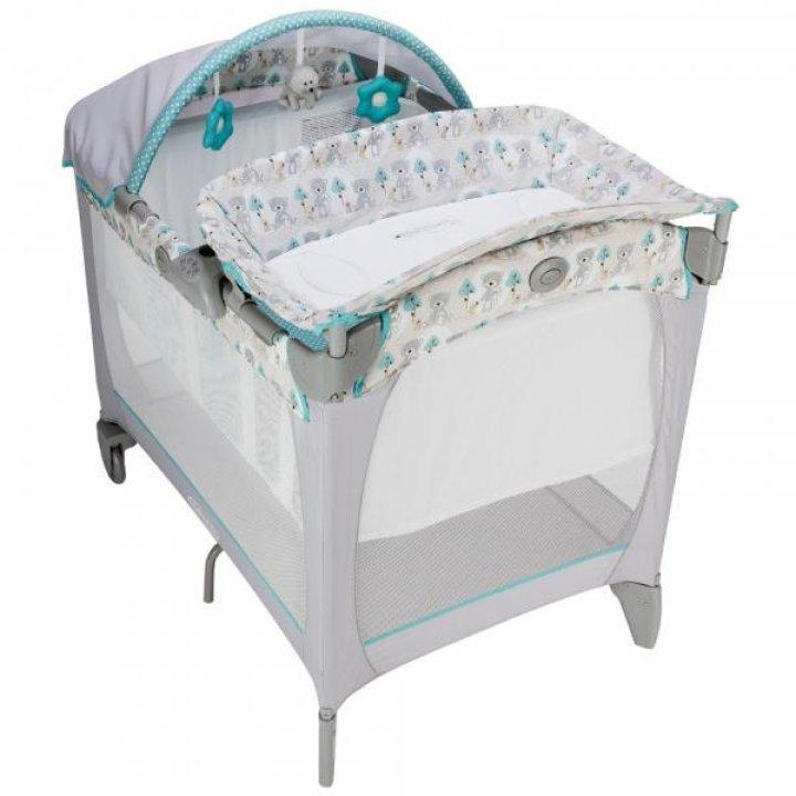 Манеж-кроватка Graco Classic Electra Buddy Bear Серый