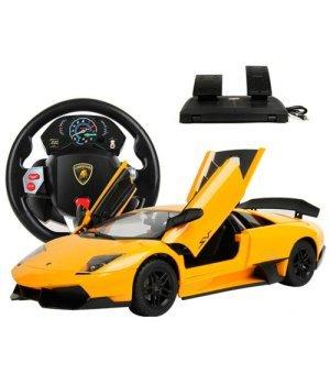 Автомобиль на радиоуправлении Lamborghini Murcielago LP 670, 1:14 (гиро-руль), MZ Meizhi желтый