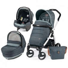 Универсальная коляска 3 в 1 Peg Perego Book 51 S Elite Modular 2017 (шасси 51 S Black/White) Blue Denim