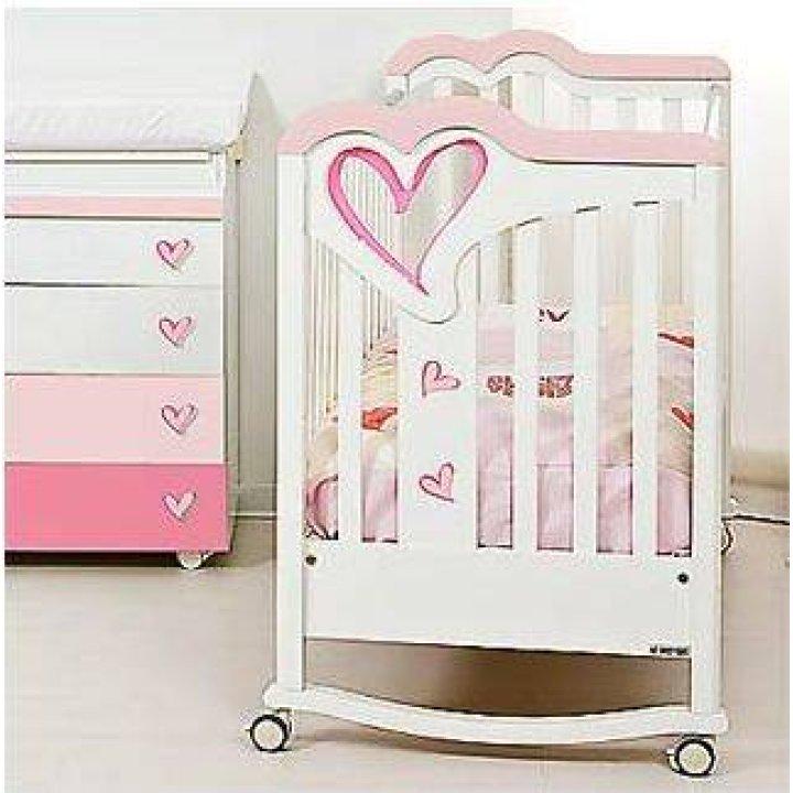 Детская кроватка Sweet Years Patch Белый с розовым