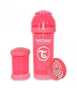 Twistshake антиколиковая бутылочка 260мл Персиковая (78032)
