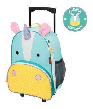 Детский рюкзак на колесиках с выдвижной ручкой Единорог (212312)