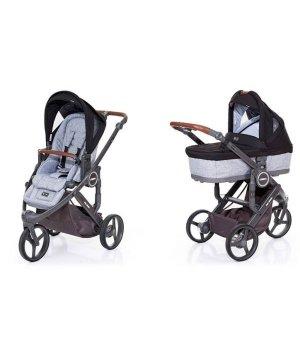 Универсальная коляска 2 в 1 ABC design Cobra Plus Black 2016 (шасси graphite grey)