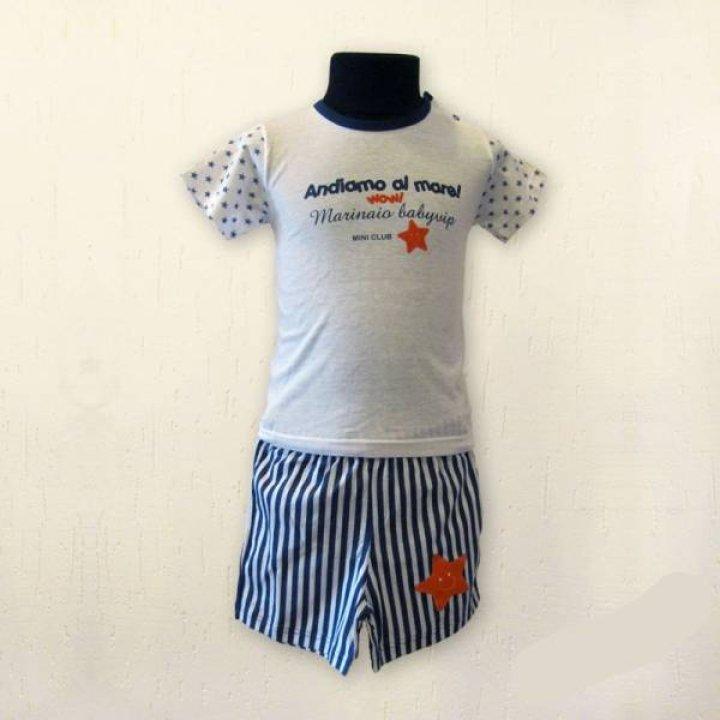 Пижама для мальчика Kiccaeciccio размер: 12, Синяя полоска