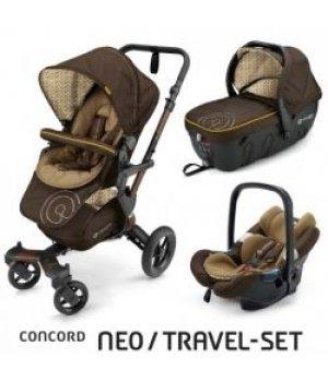 Универсальная коляска 3 в 1 Concord NEO Travel Set Walnut Brown 2016