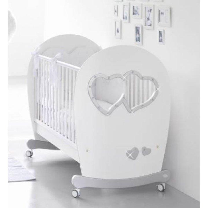 Детская кроватка Bambolina Sweet Mama Белый с серебром