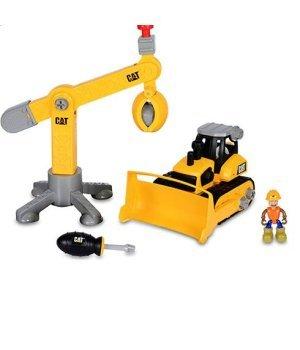Детский конструктор Toy State Бульдозер и подъемный кран Machine Maker Junior