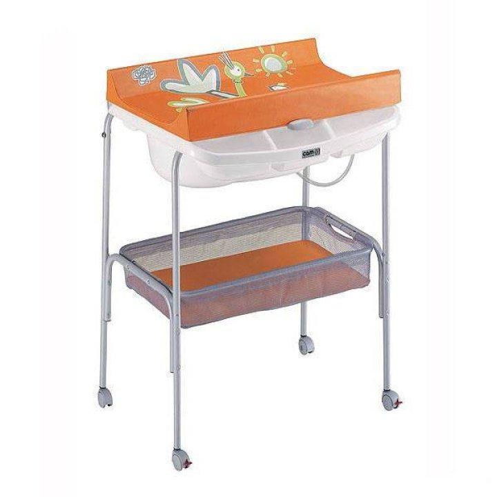 Пеленальный столик CAM Ulisse Оранжевый с птичками