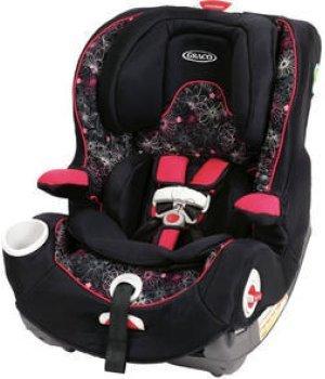 Автокресло Graco SMART SEAT черный с розовым