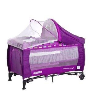 Детская кроватка манеж Caretero Grande purple