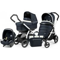 Универсальная коляска 3 в 1 Peg Perego Book S POP UP Modular 2018 (шасси S Black/White) Luxe Blue