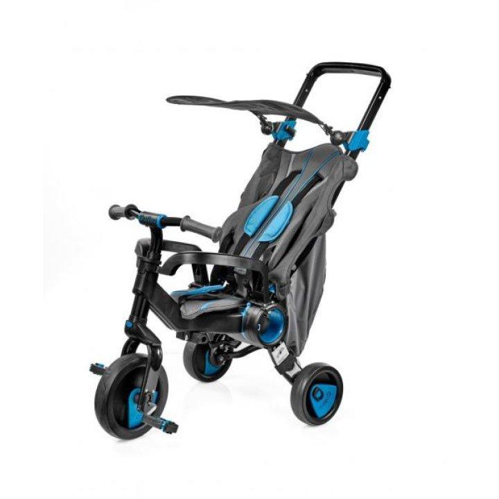 Трехколесный велосипед Galileo Strollcycle Black 2в1 Синий