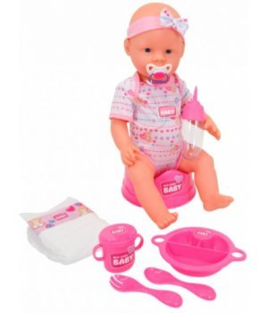 Кукла-пупс девочка с аксессуарами, 43 см, New Born Baby