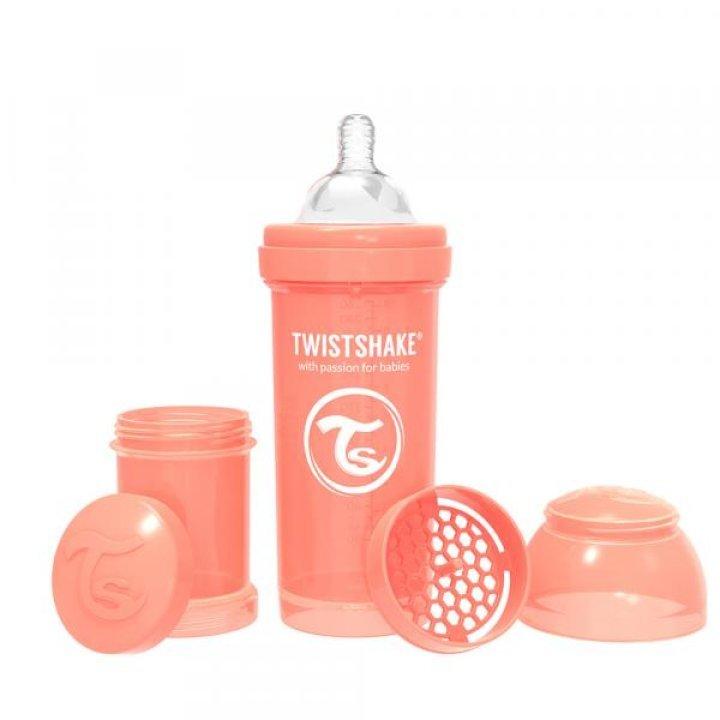 Twistshake антиколиковая бутылочка 260мл Светло-персиковая (78314)