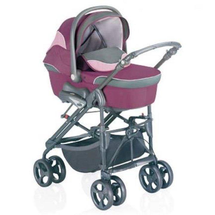 Универсальная коляска 3 в 1 CAM Dual Combi Красно-фиолетовый