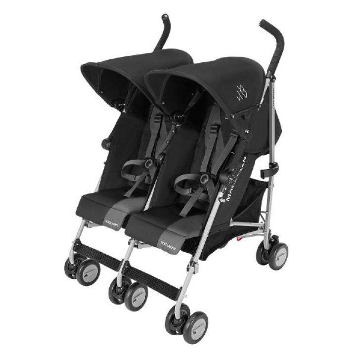 Прогулочная коляска для двойни Maclaren Twin Triumph Black/Charcoal
