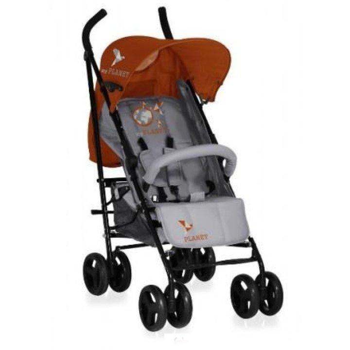 Прогулочная коляска Bertoni I-MOVE (с чехлом) grey&orange lorelli