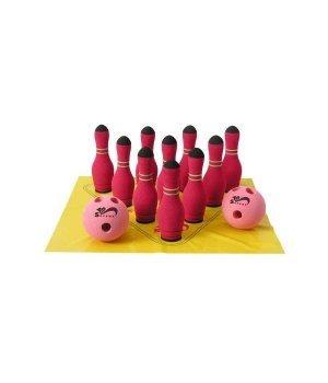 Спортивная детская игра SafSoft Боулинг в сумке (10 кеглей) Красный