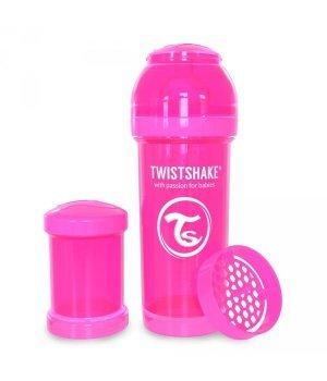 Twistshake антиколиковая бутылочка 260мл Розовая (78007)