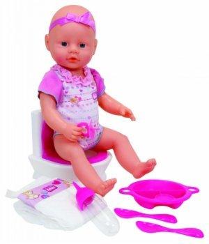 Кукла-пупс Симба Уборная, 38 см, со звуковым эффектом, New Born Baby