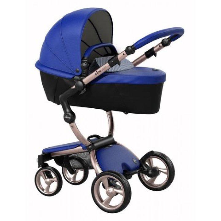Универсальная коляска 2 в 1 Mima Xari Royal Blue/Pixel Pink (шасси Rose Gold)