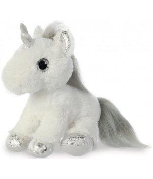 Aurora Мягкая игрушка Единорог Silver Сияющие глазки 20 см