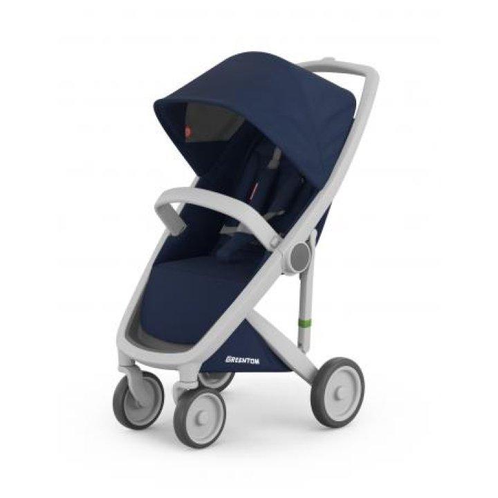 Прогулочная коляска Greentom Upp Classic Blue (Синяя) шасси Grey