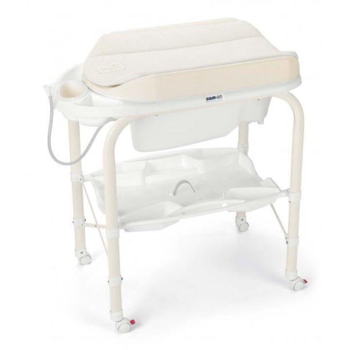 Пеленальный столик с ванночкой CAM Cambio 234 Solo Per Te Бежевый