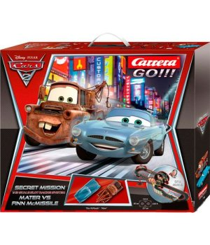 Гоночная трасса Carrera Go Disney Cars 2 - Secret Mission 220 x 80 см, 6.2 м