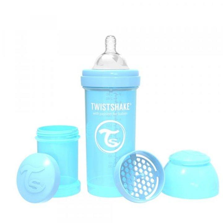 Twistshake антиколиковая бутылочка 260мл Светло-голубая (78256)