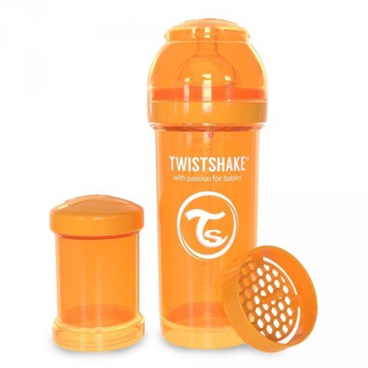 Twistshake антиколиковая бутылочка 260мл Оранжевая (78009 )