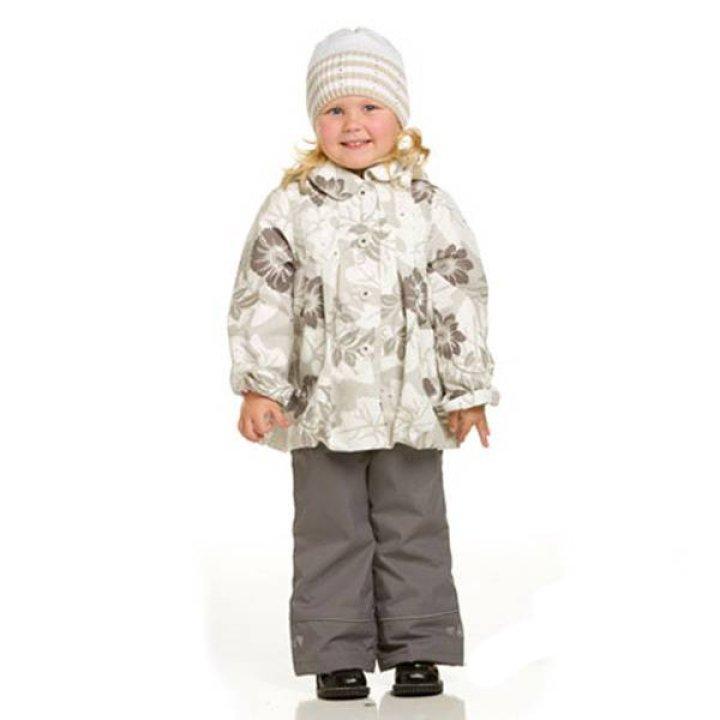 Детская куртка LENNE FLEUR размер: 104, бело-серый с рисунком