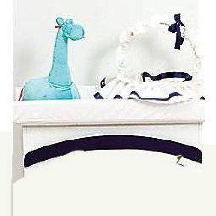 Плетенная корзинка Ruggeri Coniglietto Белый с синим