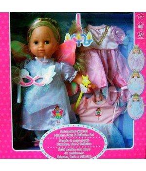 Кукла мягкая Lotus Onda Принцесса 38см с тремя нарядами