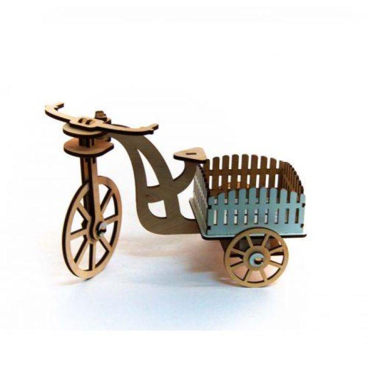 Кукольный велосипед деревянный