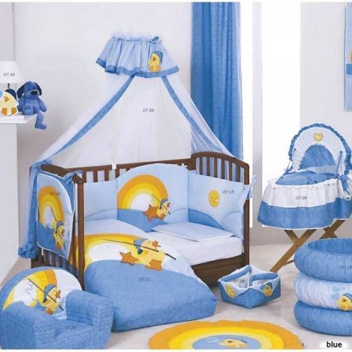 Постельный комплект Ruggeri Paperotto Голубой 11