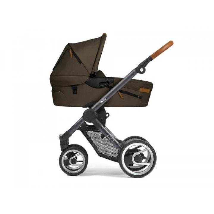 Классическая коляска Mutsy EVO Urban Nomad Dark Olive / Dark Grey Cognac