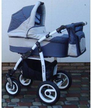 Универсальная коляска 2 в 1 Adbor Siesta 09 (graphite-light grey)