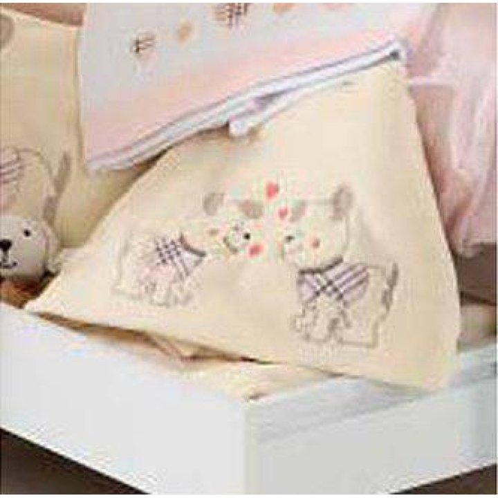Одеяло в коляску Ruggeri Bau Bau Бежевый с розовым