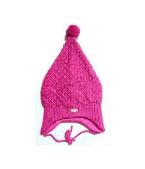 Детская зимняя шапочка LENNE FLORA размер: 50, Малиновый