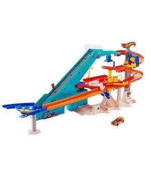 Автомобильный трек Mattel Hot Wheel Моторизированный мегагараж