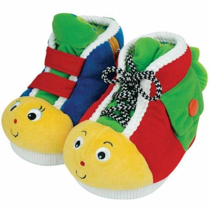 Интерактивная игрушка Ks Kids Развивающие ботиночки красно-зеленые
