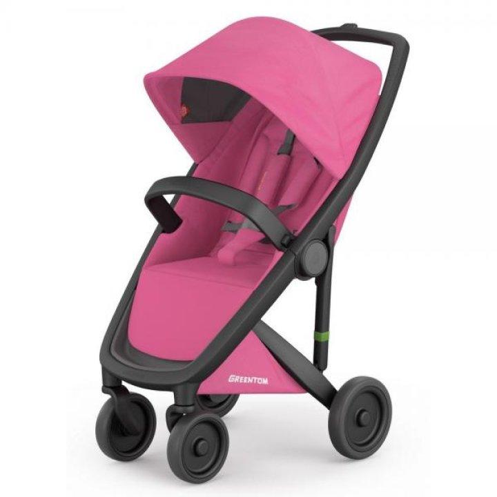 Прогулочная коляска Greentom Upp Classic Pink (шасси Black)