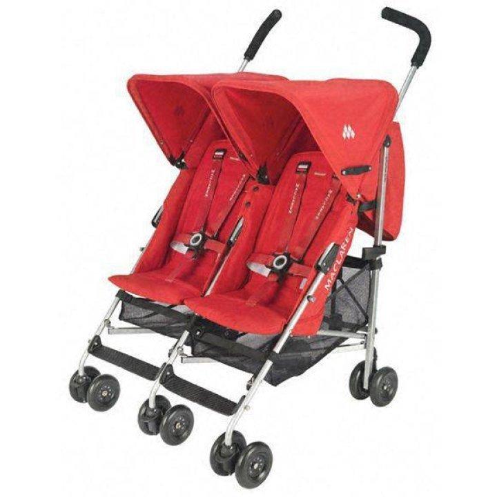 Прогулочная коляска для двойни Maclaren Twin Triumph Scarlett